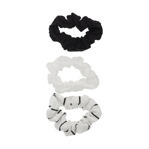 Black /& White Scrunchie 3 Pack