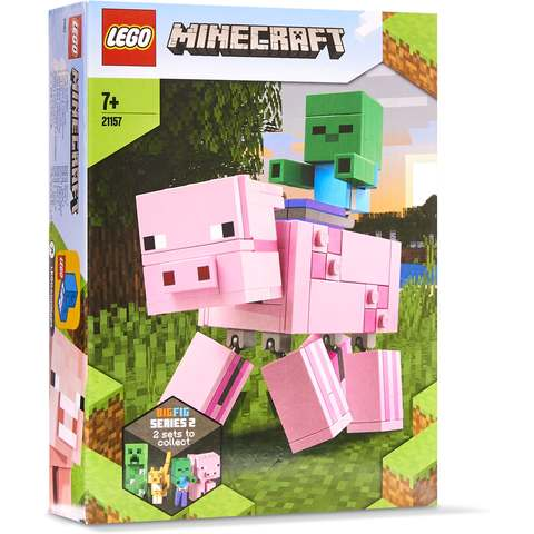 Lego Minecraft 21157 BigFig Pig with Baby Zombie Adventures Building Set New