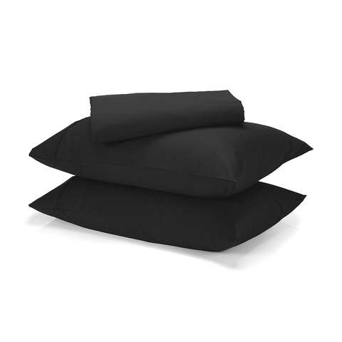 225 Thread Count Sheet Set - King Bed, Black