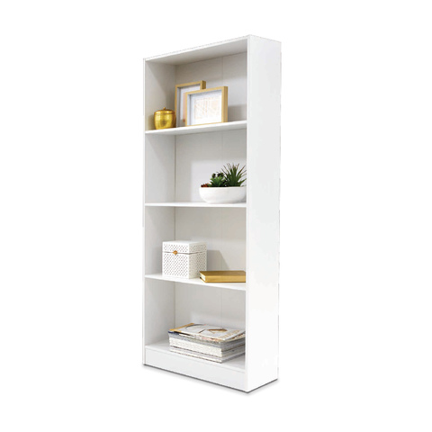 4 Tier Bookshelf - White