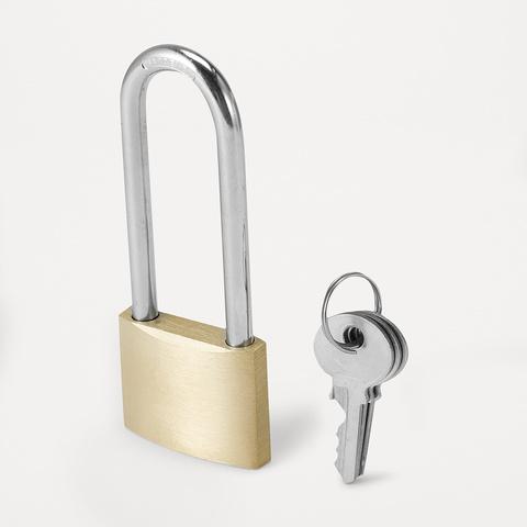 long shackle brass padlock 4cm kmart