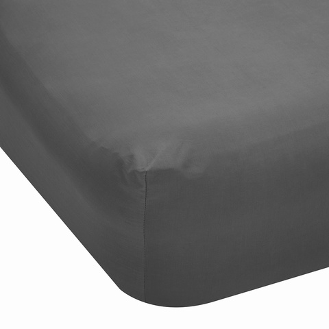 225 Thread Count Fitted Sheet - Double Bed, Grey