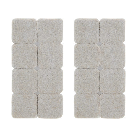 Square Felt Surface Protectors - 25mm, Pack of 16
