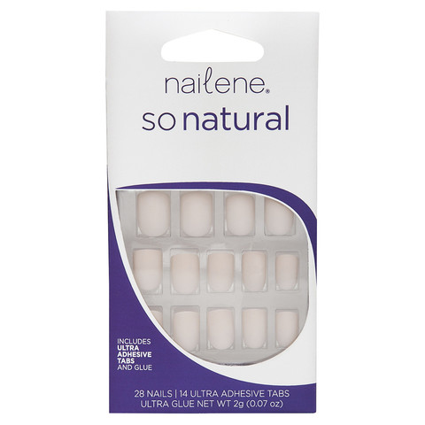 Nailene So Natural 28 Pack Matte Nude Nails