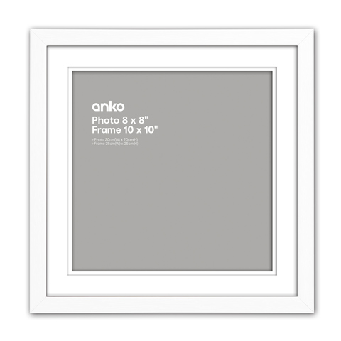 Nice Photo Frame - 8in. x 8in. (20cm x 20cm), White | Kmart