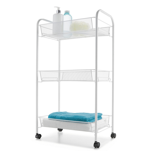 3-Tier Bathroom Trolley - White