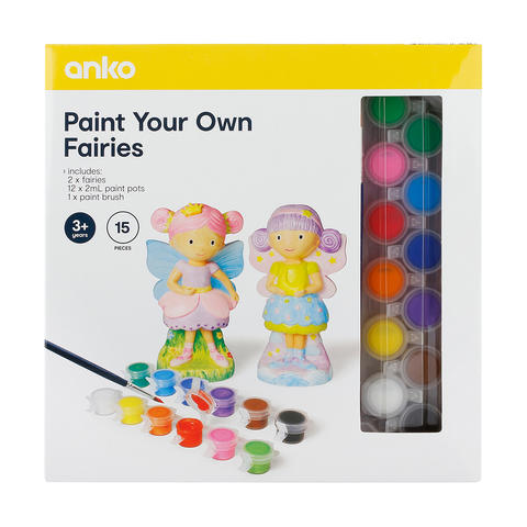 15-Piece Paint Your Own Fairies