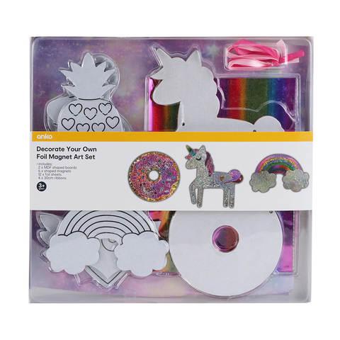 24 Piece Decorate Your Own Foil Magnet Art Set