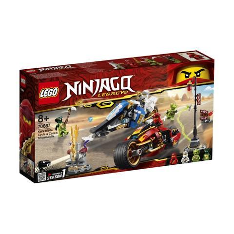 LEGO NINJAGO Kai's Blade Cycle & Zane's Snowmobile - 70667
