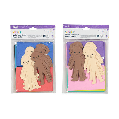 Foam Dolls - Pack of 10