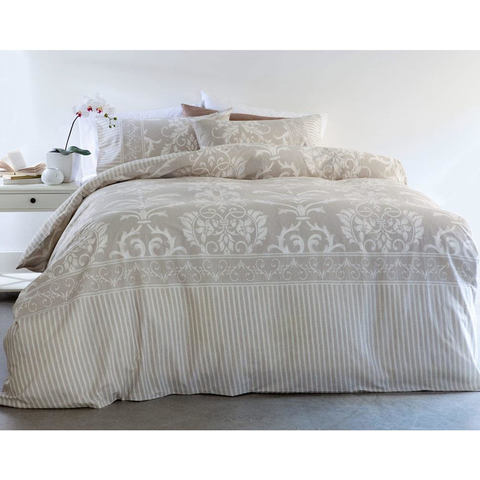 Damask Quilt Cover Set - Double Bed