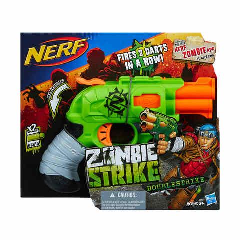 hasbro nerf zombie strike doublestrike blaster kmart