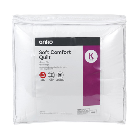 Soft Comfort Quilt - King Bed