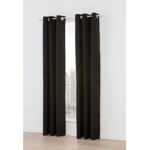 Paris Blackout Curtain Black Kmart