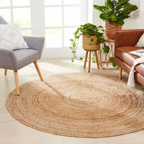 Round Jute Rug Kmart, Round Straw Rattan Rug