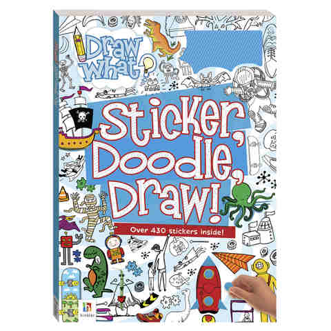 Sticker, Doodle, Draw!: Blue - Book