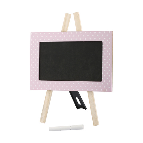 Pink Wooden Blackboard Set