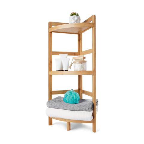 Cool Bamboo 3 Tier Corner Shelf Download Free Architecture Designs Oxytwazosbritishbridgeorg