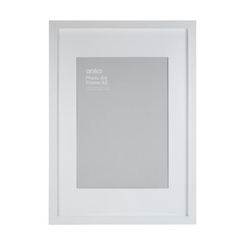 Frame Box A4 White Kmart