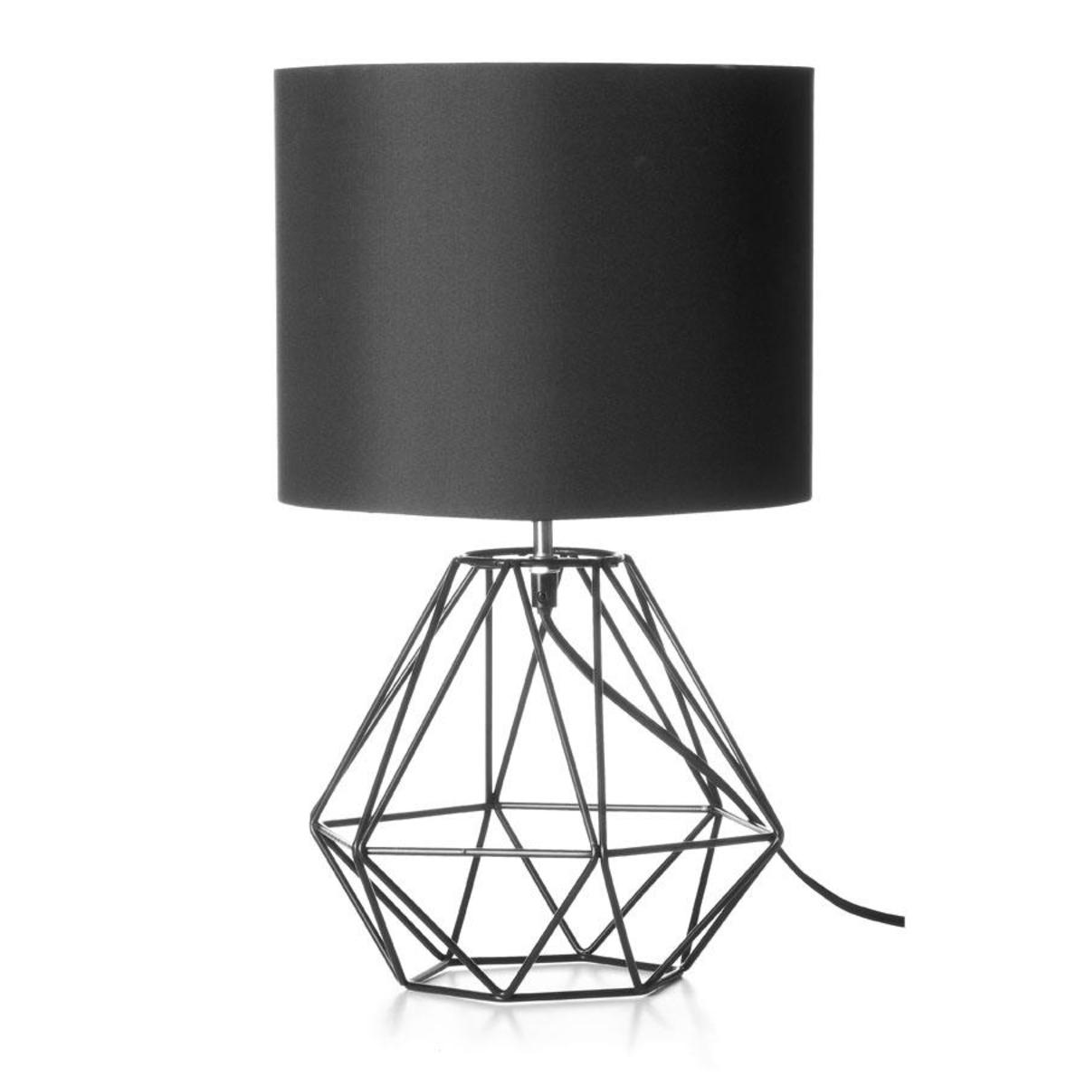 Black Lamp black geometric table lamp | kmart