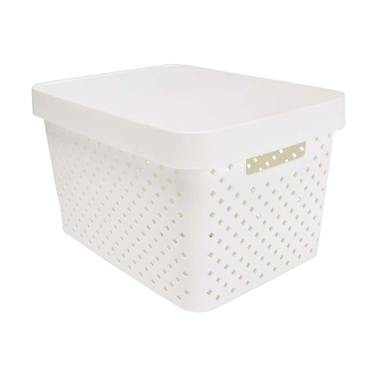 design tub with lid medium white kmart. Black Bedroom Furniture Sets. Home Design Ideas