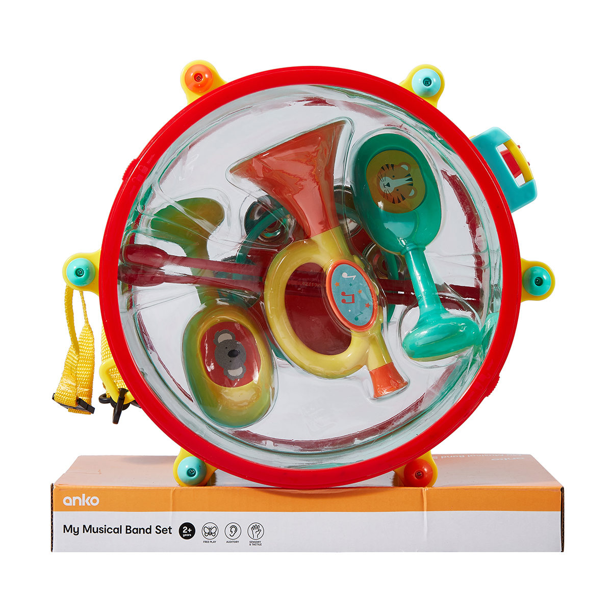 Drum Toy For 1 Year Olds : Piece party drum set kmart