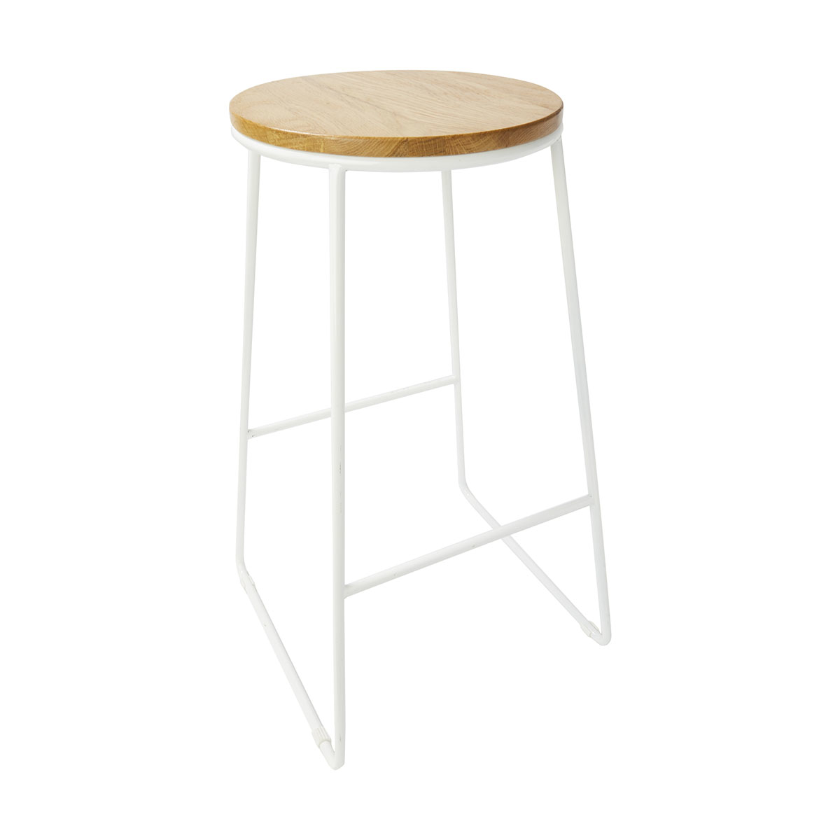 White Industrial Stool Kmart