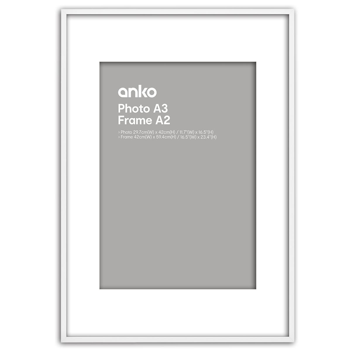 A2 Box Mat A3 Frame White | Kmart