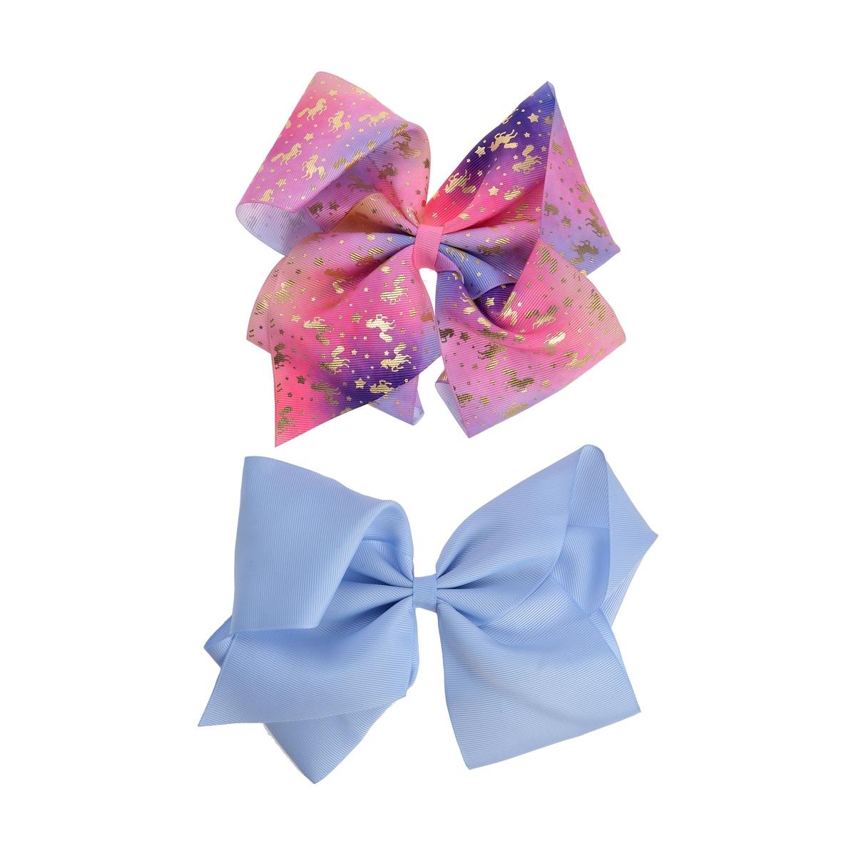 a468583e38b 2 Pack Pastel Unicorn Bows