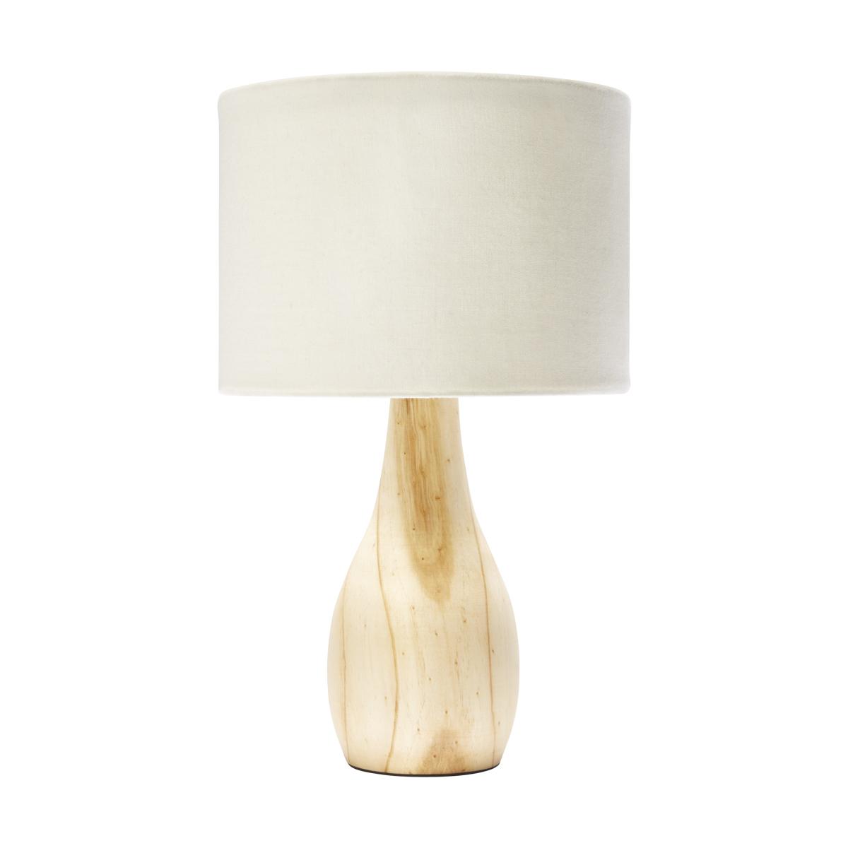 Wood Effect Base Lamp Kmart