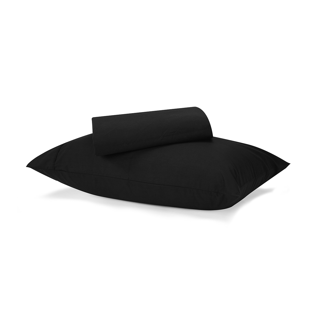 225 thread count sheet set single bed black kmart. Black Bedroom Furniture Sets. Home Design Ideas