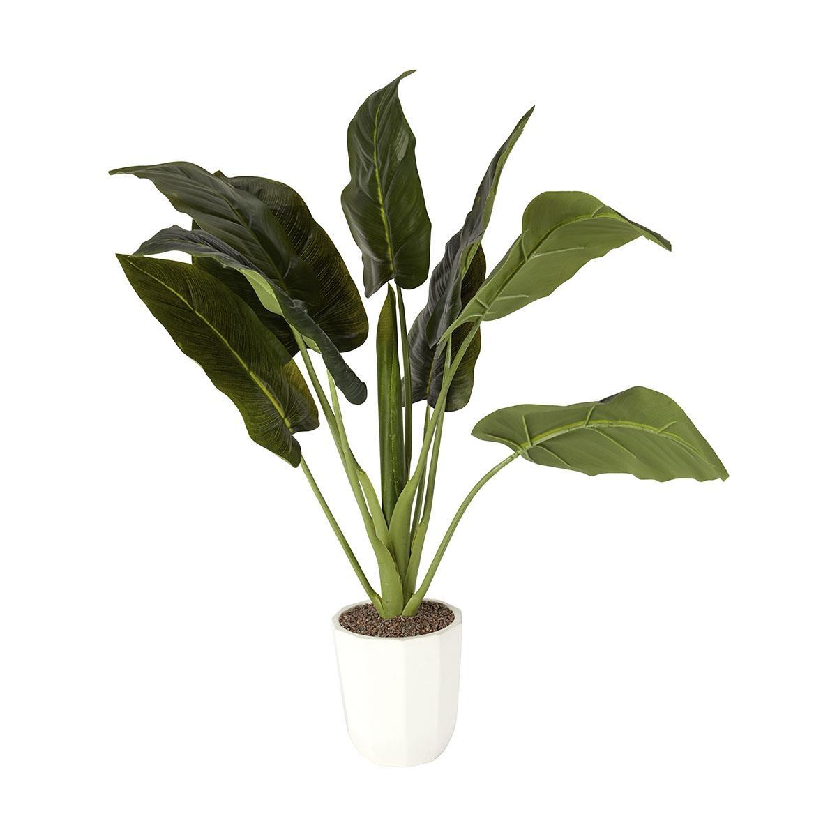 Artificial anthurium plant kmart for Artificial banana leaves decoration