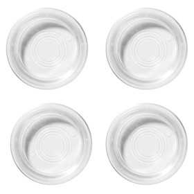 Floor Saver Cups - Clear, Set of 4
