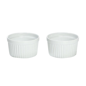 Set of 2 Super White Ramekins