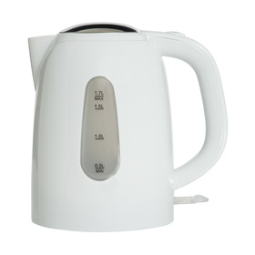 Plastic Electric Water Kettle - 1.7L, White