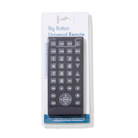 Big Button Universal Remote - Black