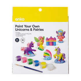 13 Piece Paint Your Own Unicorns and Fairies