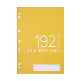 A4 Binder Book - 192 Pages, Yellow