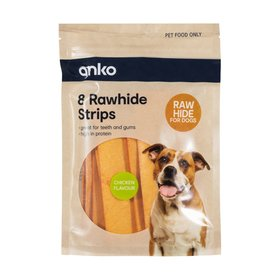Rawhide Chewy Strips - Chicken, Pack of 8