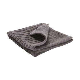 Metro Ribbed Face Washer - Grey