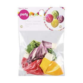 Coloured Marble Balloons - Pack of 6