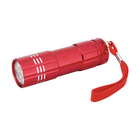 9 LED Aluminium Torch Red