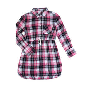 Long Sleeve Check Shirt Dress