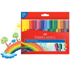 Faber-Castell Connector Pens - Pack of 18