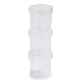 3 Pack 500ml Round Containers