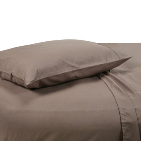 King Single Bed Sheet Set - 180TC, Mocha