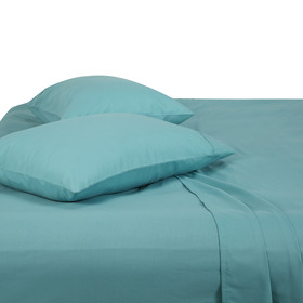 180 Thread Count Sheet Set - Double Bed, Aqua