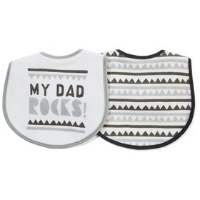 Printed Bibs - Daddy Rocks, 2 Pack
