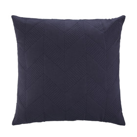 Quilted Geo Cushion - Blue