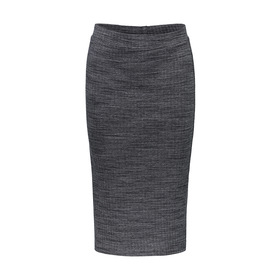 Ribbed Knitted Pencil Skirt